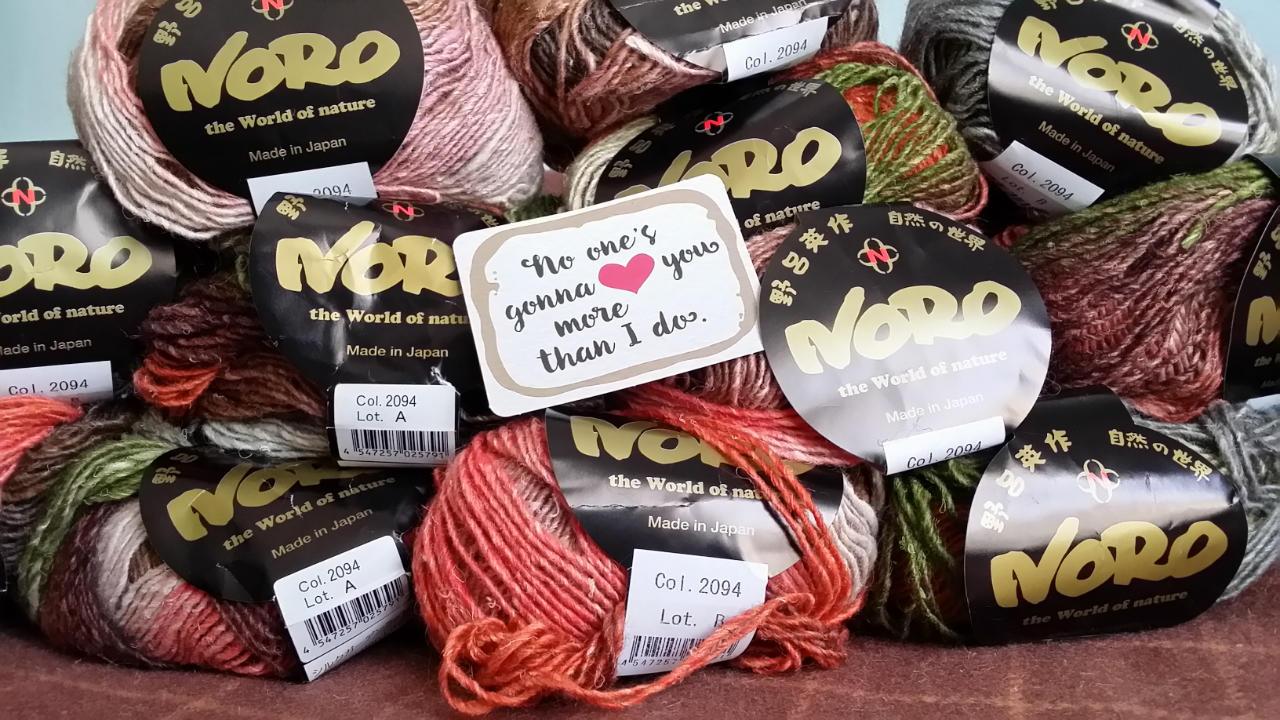 Die Noro Silk Garden Lite #2094 im Beitrag Valentine. Foto: Katrin Walter - Noromaniac